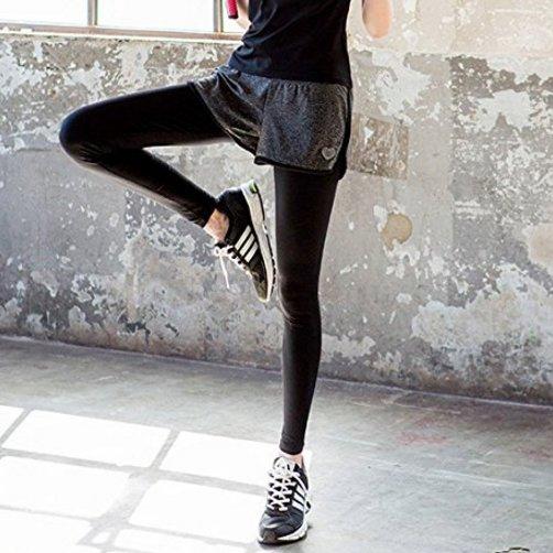 COPPERHEAD 健身服 瑜伽服 健身裤 瑜伽裤 女假两件速干弹力跑步显瘦健身房运动服 春夏 正品包邮图片