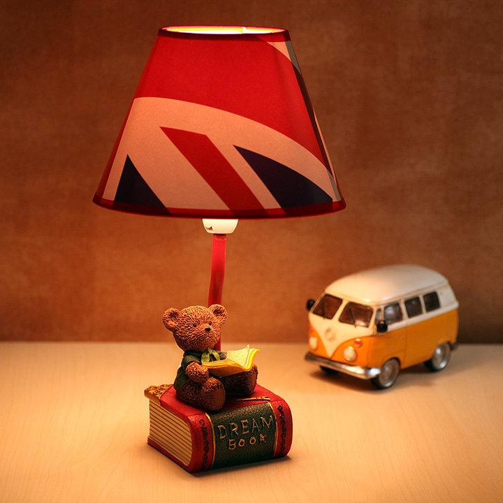 小熊卡通台灯图片