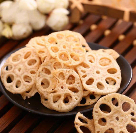 莲藕脆片80g 即食蔬菜干制品 莲藕干果蔬干孕妇零食