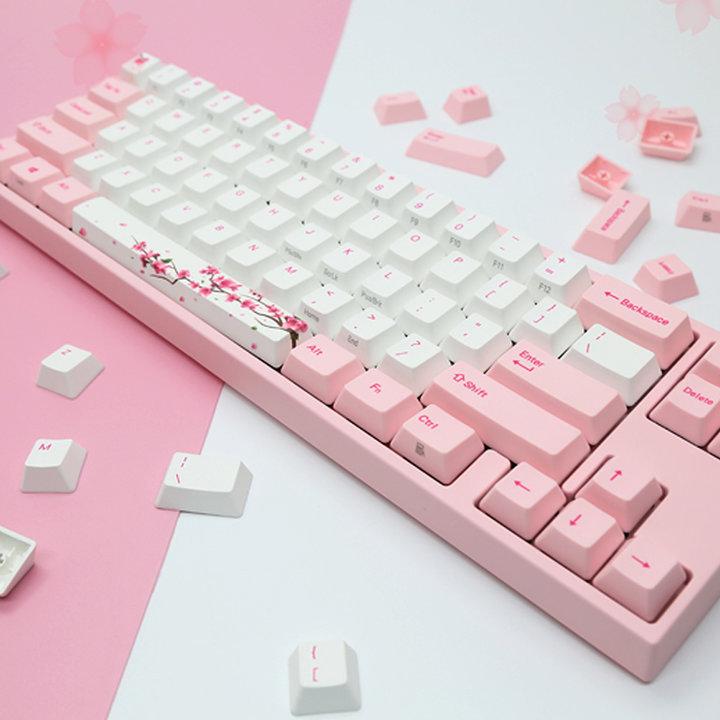 这款是阿米洛为了纪念打开日本市场所推出的主题键盘,所以风格的灵感