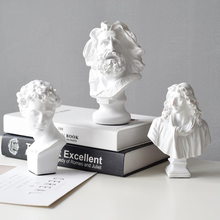 part 3:小小的生活仪式感   1北欧风素描石膏人物雕塑摆件 ins上
